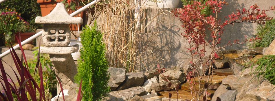 amenajare gradina cu curs de apa